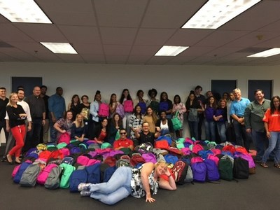 Arise's employee led Community Action Team filled over 300 backpacks with school supplies for South Florida Schools & the Broward Partnership for the Homeless.