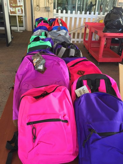Arise's employee led Community Action Team delivered backpacks for Broward Partnership for the Homeless.