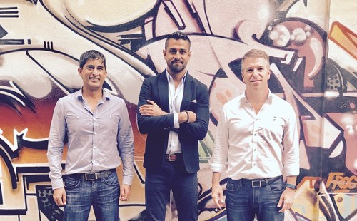 Swarmsales co-founders from left to right, Samir Rajguru, Ankur Srivastava, and Alex LImeres.