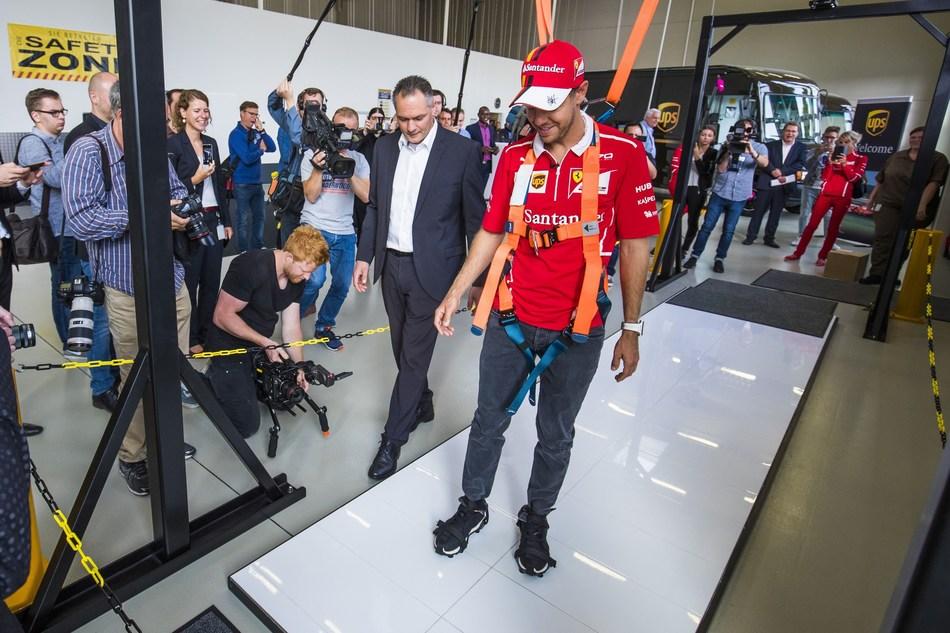 UPS Integrad Welcomes Scuderia Ferrari Driver Sebastian Vettel (PRNewsfoto/UPS)