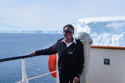 RMU Cadet, Nicholine Tifuh Azirh joins the crew of Celebrity Equinox, for the first time in cruise industry history, female bridge officers will be openly recruited from a West African country through a new Celebrity Cadet Program in partnership with RMU.