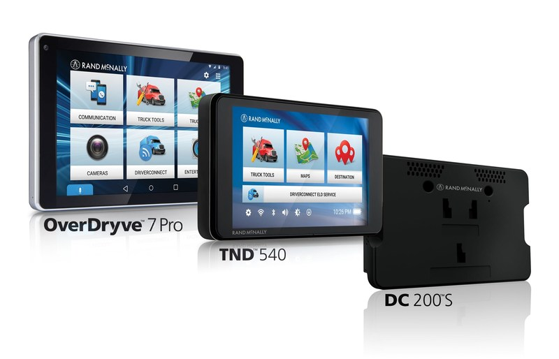 Rand McNally Dramatically Expands Portfolio for Professional Drivers with OverDryve™ 7 Pro, TND™ 540, and DC 200™ S
