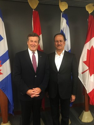 https://mma.prnewswire.com/media/547776/John_Tory_and_Hussain_Sajwani.jpg