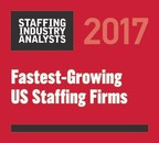 AtWork Ranked as One of the Fastest Growing Staffing Companies in 2017