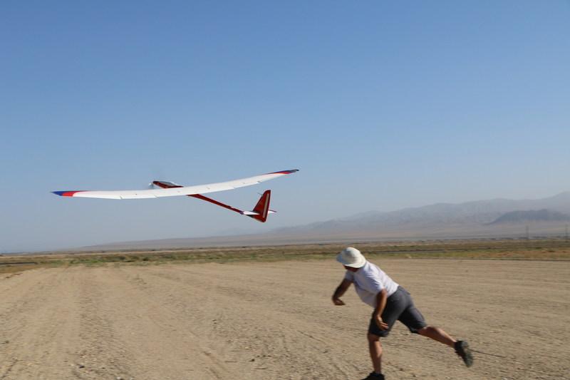 Manpowered Sailplane launch