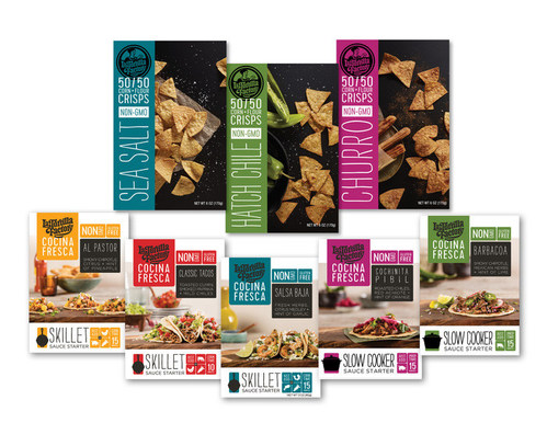 As La Tortilla Factory celebrates its 40th Anniversary this year, the company is proud to roll out a new line of products including the Cocina Fresca Sauce Starters and 50-50 Corn/Flour Crisps, offering home cooks easy-to-prepare, fresh and authentic flavors.