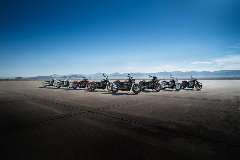 Harley-Davidson launches a fully-transformed Softail® lineup powered by the Milwaukee-Eight™ Big-Twin engine, delivering the most powerful, agile and responsive Big Twin Cruisers ever.