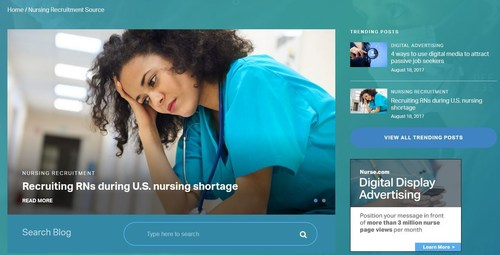 Nursing Recruitment Blog Launches With Focus on Issues, Trends