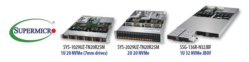 Supermicro lança servidores Ultra all-flash 20 NVMe em 1U e o novo JBOF 32 NVMe em 1U