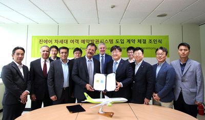 Jin Air and IBS Software representatives at the signing ceremony in Seoul (PRNewsfoto/IBS Software (IBS))