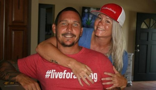 Christian Griffith, Founder of Live for a Living, with his Director of Operations and Sponsorship, Lindsay Luna