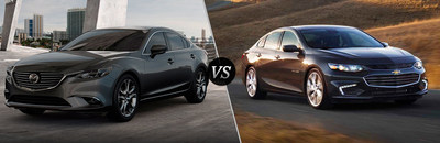 Mazda of Lodi has created a new comparison tool aimed at giving customers more information about competing models. This webpage compares key features of the 2017 Mazda6 to the 2017 Chevrolet Malibu so shoppers can see which is the better car.