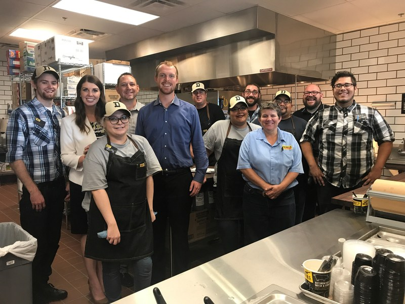 Dickey's Barbecue Pit owners Tiffany Oder and Chad Burge open their newest location in Tolleson.