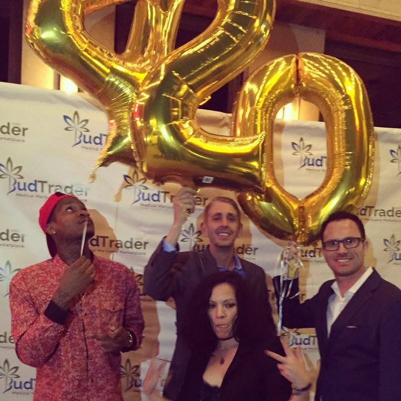 Slim 400, BudTrader CTO Scott Edge and BudTrader CEO Brad McLaughlin at the BudTrader Ball on 4/20/2017