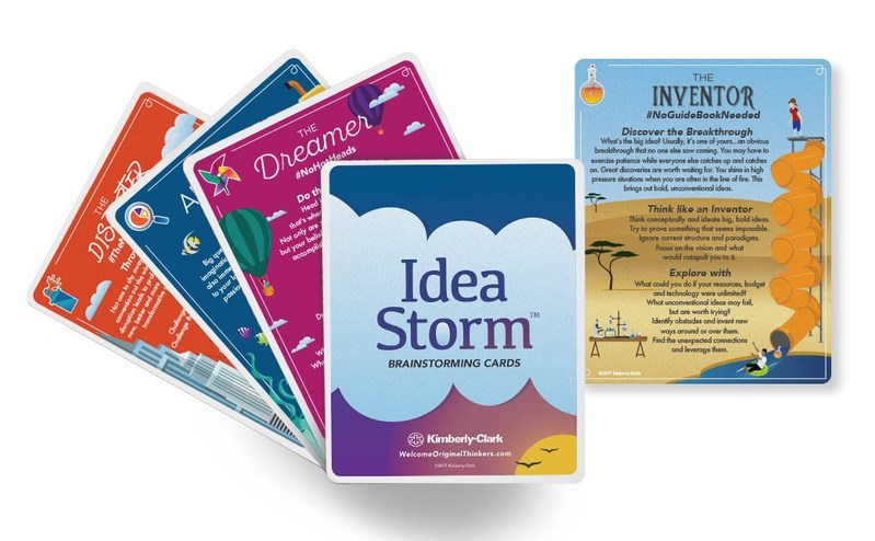 Want to add more original thinking to your work? Kimberly-Clark, creator of iconic brands such as Kleenex, Huggies and U by Kotex, has launched IdeaStorm, a new, dynamic brainstorming tool that unlocks the power of different thinking styles to foster creativity in the workplace. The IdeaStorm brainstorming tool is available for free at www.welcomeoriginalthinkers.com.