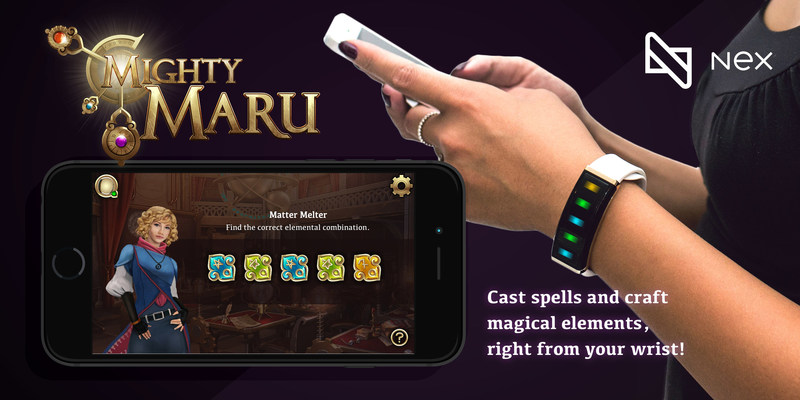 Wearable interactive visual novel - Cast spells, craft magic and hack reality with Nex. (CNW Group/Mighty Cast, Inc (The Nex Band))