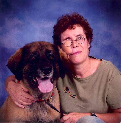 Monica van de Ven and her service dog Tisha