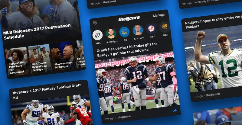 theScore has unveiled the biggest update to its flagship app in its history. (CNW Group/theScore, Inc.)
