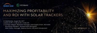 Como maximizar a rentabilidade e o retorno sobre investimentos com rastreadores solares (PRNewsfoto/Arctech Solar)