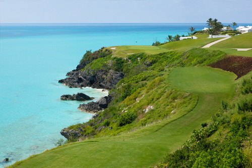 16th Hole, Par 3, 235 Yards, Port Royal Golf Course. Recognized as one of the best golf holes worldwide.