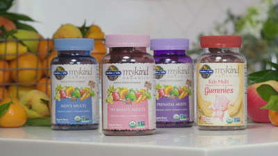 Leading nutrition brand Garden of Life and Alicia Silverstone — actress, New York Times best-selling author and health advocate — together announce an exciting innovation to their industry-leading mykind Organics line of vitamins. New mykind Organics Gummy vitamins are the first full-line of gummy multivitamins to be Certified USDA Organic, Non-GMO Project Verified, and made from real organic fruit and whole-food vitamins — offering a deliciously innovative way for the entire family to get their