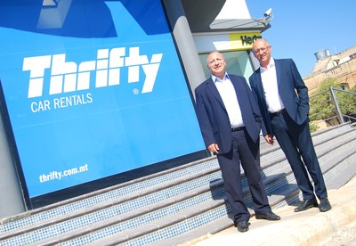 From left to right Ron Scerri, General Manager Hertz and Thrifty Malta, and Simon Gatt Baldacchino, Managing Director Hertz and Thrifty Malta, COO and Director, United Group of Companies.