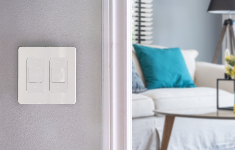 The NuBryte Smart Switch collection extends top features, like motion-based lighting and security across the home and to unique switch configurations. Mix and match up to four Smart Switches per switch box for a customized smart home solution, ideal for retrofits or custom-built homes.