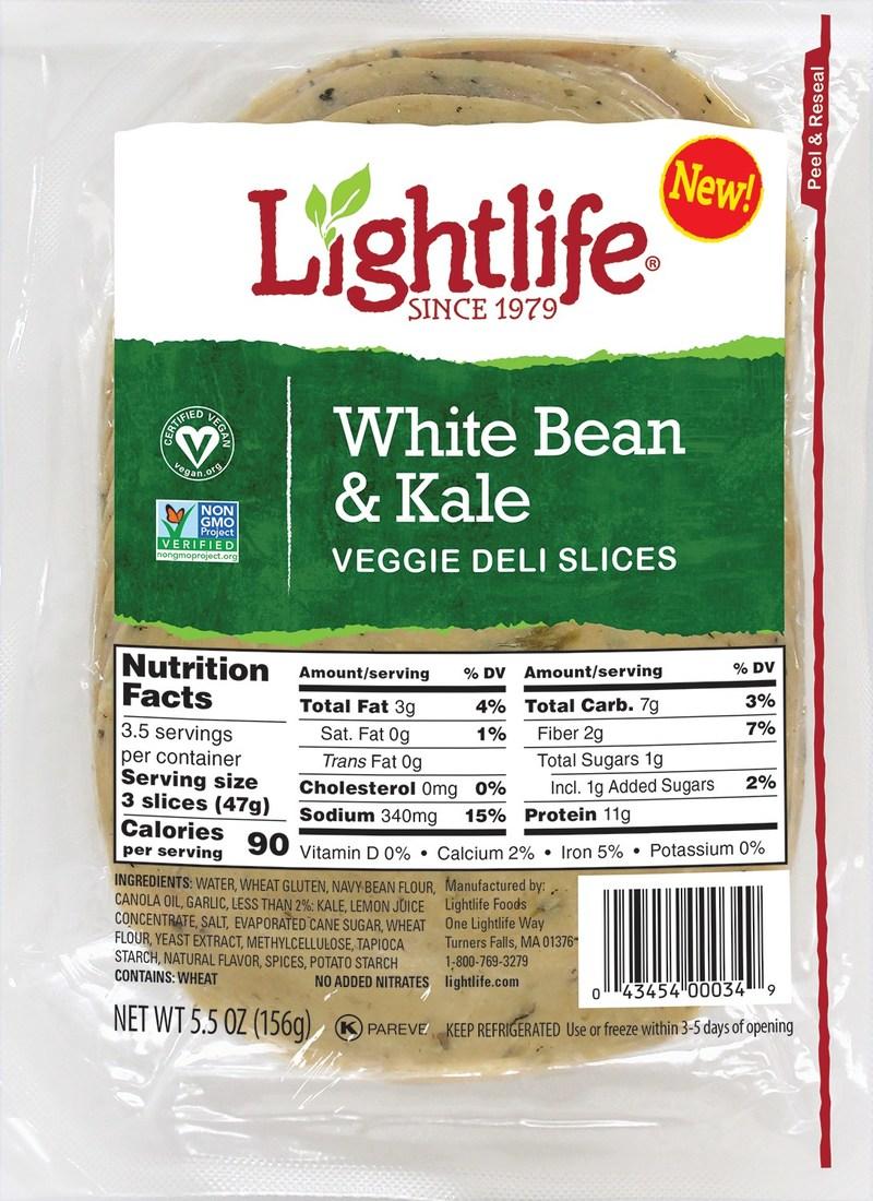 White Bean & Kale Veggie Deli Slices