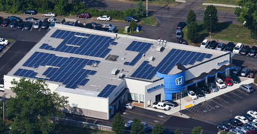 As a Platinum award recipient in Honda's Green Dealer Program, Brandfon Honda in Branford, Conn. has earned the distinction of being electric grid neutral. The dealer produces as much or more energy from renewable energy sources than it consumes from its local electric utilities over a one-year measurement period. Honda is launching the next phase of its program, which includes a refreshed website with cumulative CO2 reduction data and an updated Green Dealer Guide.