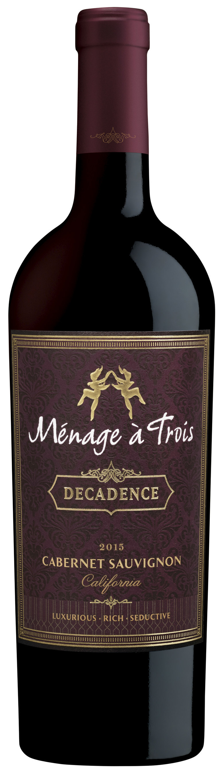 provocative wine brand launches m nage trois decadence. Black Bedroom Furniture Sets. Home Design Ideas