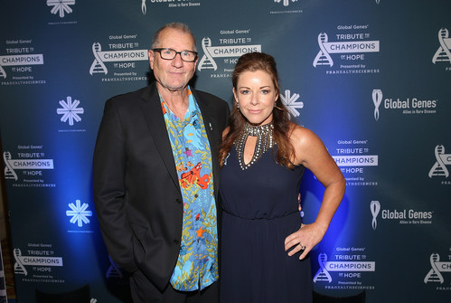Actor Ed O'Neill and Global Genes Founder and CEO, Nicole Boice at Global Genes Tribute to Champions of Hope 2016 on September 24, 2016 in Huntington Beach, California.  (Photo by Jesse Grant/Getty Images for Global Genes)