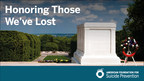Nation's Largest Suicide Prevention Organization Honors Veterans, Active Duty Service Members and First Responders with Wreath Laying Ceremony at Arlington National Cemetery - Media Invited