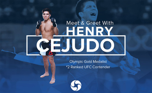 Meet and Greet with Henry Cejudo Olympic Gold Medalist and #2 Ranked UFC Contender at PCI Wellness, August 26th