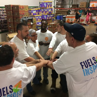 Faurecia employees in Taylor, Michigan spend time at their local food bank partner, Gleaners Food Bank of South East Michigan