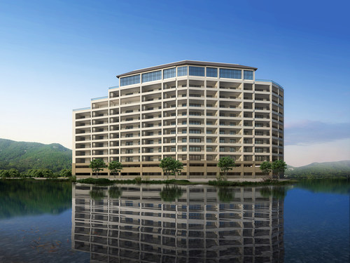 Render of The Cypress at the Lake. Please note the final building may have differences.