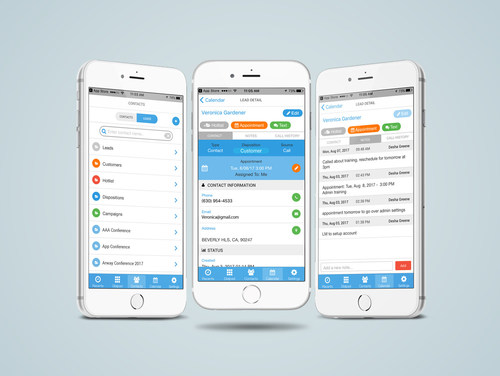 DYL's telephony and lead management system, in a sleek mobile interface.