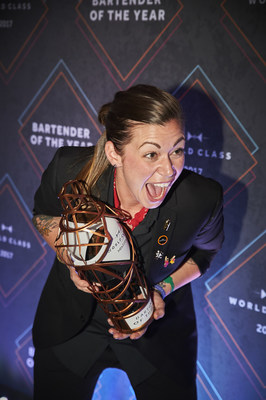 Kaitlyn Stewart is named the World Class Bartender of the Year in Mexico City 2017 (PRNewsfoto/WORLD CLASS)