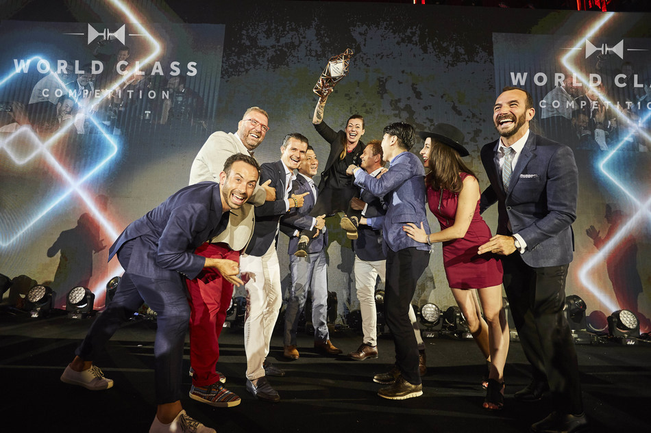 World Class Bartender of the Year 2017 Kaitlyn Stewart and the World Class Hall of Fame (PRNewsfoto/WORLD CLASS)