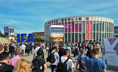 IFA in Berlin is the world's leading trade show for consumer electronics and home appliances. It takes place from September 1 – 6 at the Berlin Exhibition Grounds. (PRNewsfoto/TVT.media GmbH)