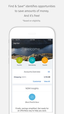 RBC is the first bank in Canada to offer clients NOMI Find & Save, a fully-automated savings service, through RBC Mobile. (CNW Group/RBC Royal Bank)