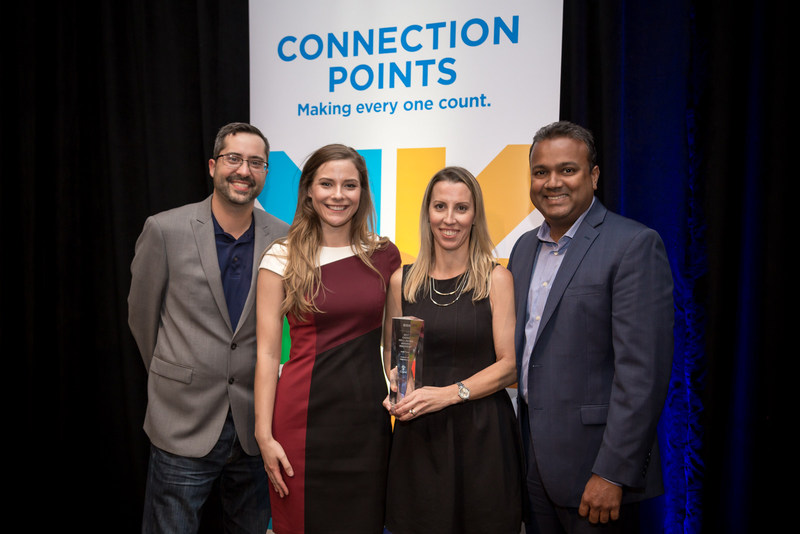 Bisk's Wellness and Benefit's team accepting the Cigna Well-Being Award 2017.