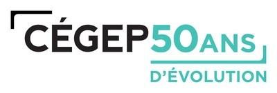 Logo : CÉGEP : 50 ANS D'ÉVOLUTION (Groupe CNW/Fédération des cégeps)
