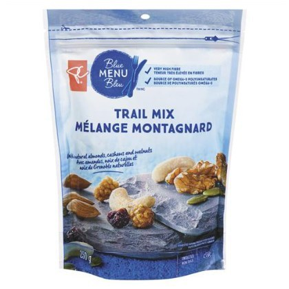 Allergen Advisory: President's Choice® Blue Menu Natural Trail Mix (CNW Group/Loblaw Companies Limited)