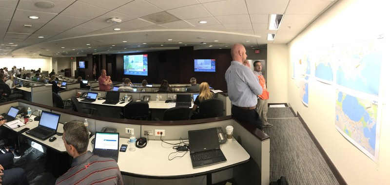 The Home Depot activated its hurricane command center as Hurricane Harvey made landfall. Photo provided by The Home Depot Story Lab