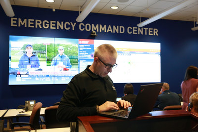 Lowe's Emergency Command Center in Wilkesboro, North Carolina monitors Hurricane Harvey.