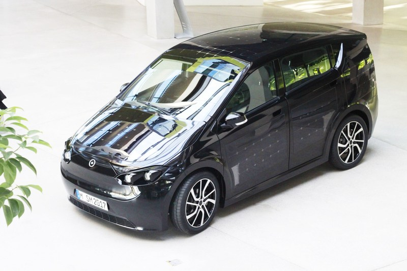 The solar car Sion cost EUR 16.000 and has a range of 250 km. Solar cells can recharge the car through the sun. Sono Motors goes on a test drive tour through Europe the next two months (PRNewsfoto/Sono Motors GmbH)
