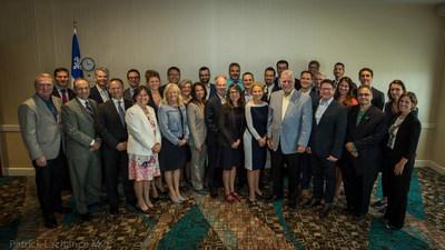 Charlottetown (Île-du-Prince-Édouard), le 27 août 2017. – Le premier ministre du Québec, Philippe Couillard, a rencontré les participants québécois du volet commercial de la 41e Conférence des gouverneurs de la Nouvelle-Angleterre et des premier ministres de l'Est du Canada (Groupe CNW/Cabinet du premier ministre)