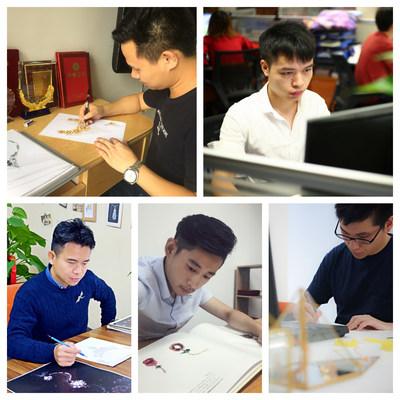 From top left: Lai Guo Dong, Luo Yang, Huang Xiang Min, Sun Hao, Jiang Hao