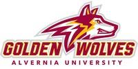 New Alvernia University athletics identity — the Golden Wolves