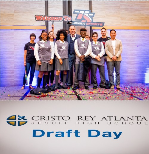Ernie Johnson and his team from Turner Sports recruit a team of four Cristo Rey Atlanta Jesuit High School Students